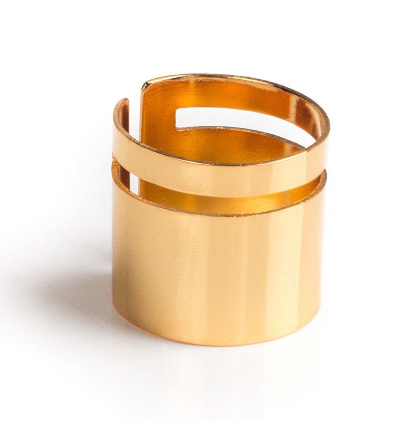 Anillo Line baño de oro - TOMASA