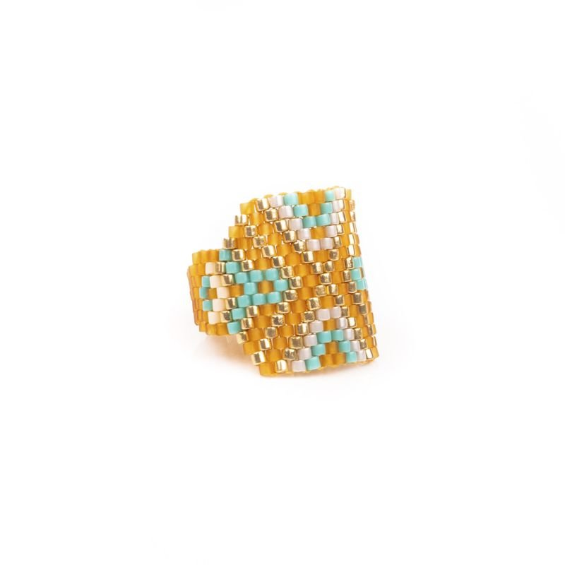 anillo miyuki amarillo Tomasa