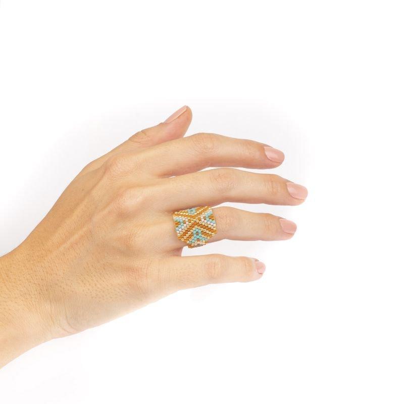 anillo miyuki amarillo uso Tomasa