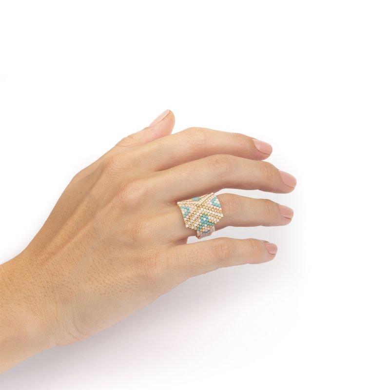anillo miyuki blanco uso Tomasa