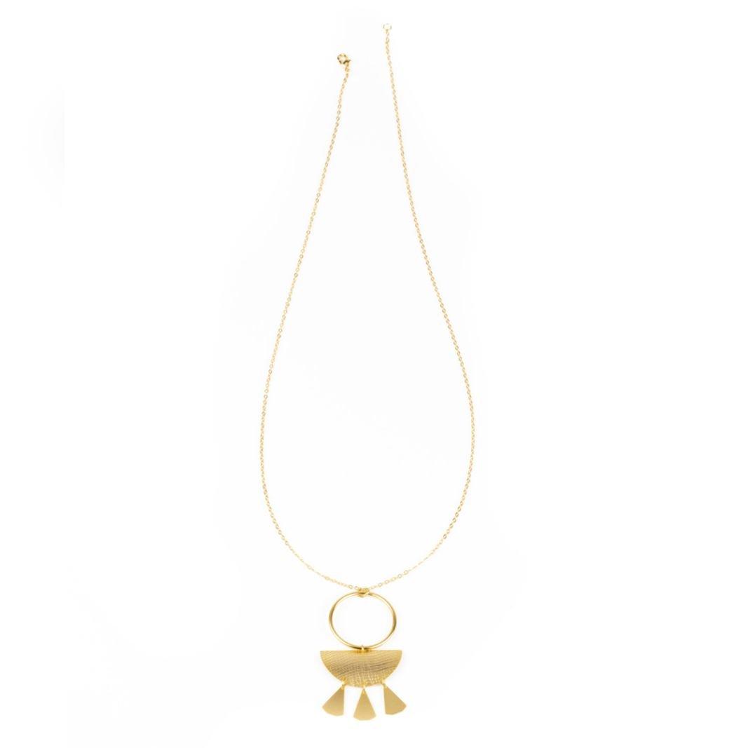 cadena hecha a mano baño oro mate Nativa Tomasa