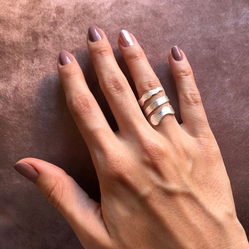 anillo mamba plateado modelo