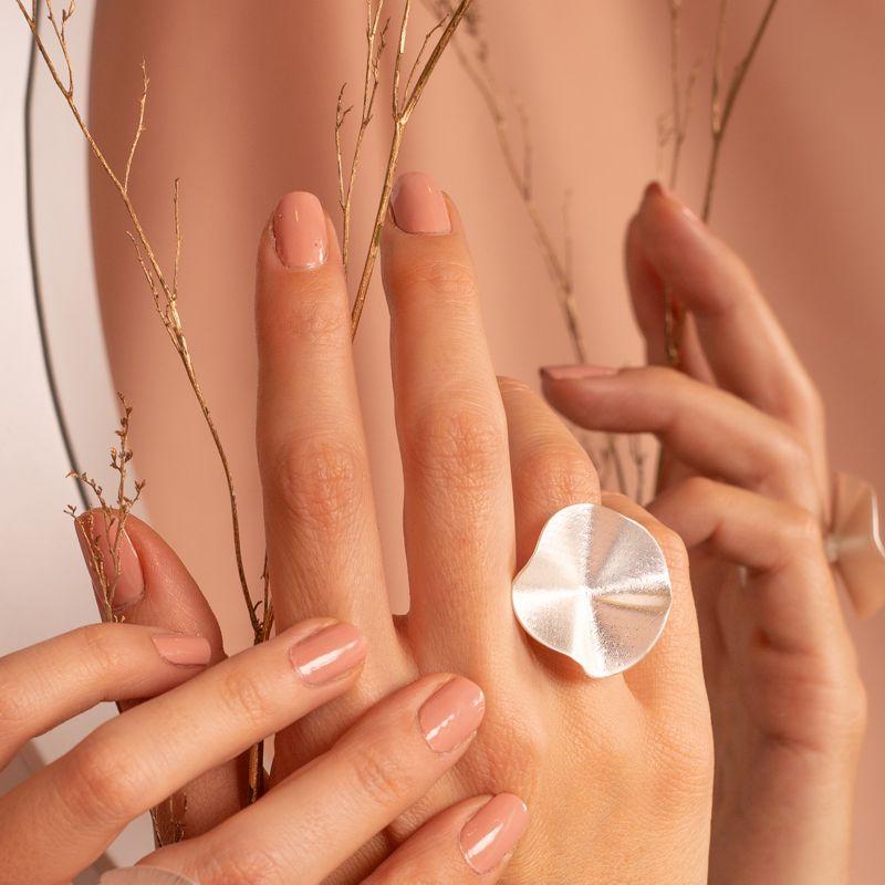 anillo sahara baño plata