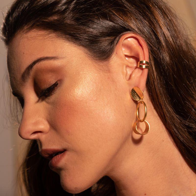ear cuff rombo modelo